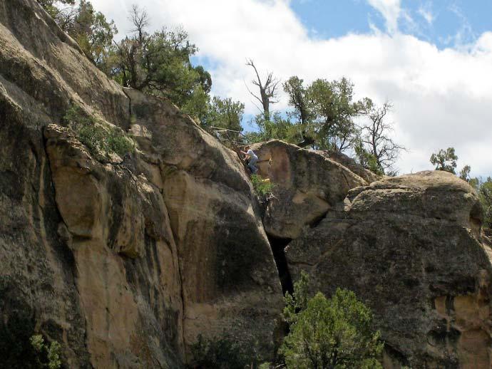 Cliff Palace ladder climb