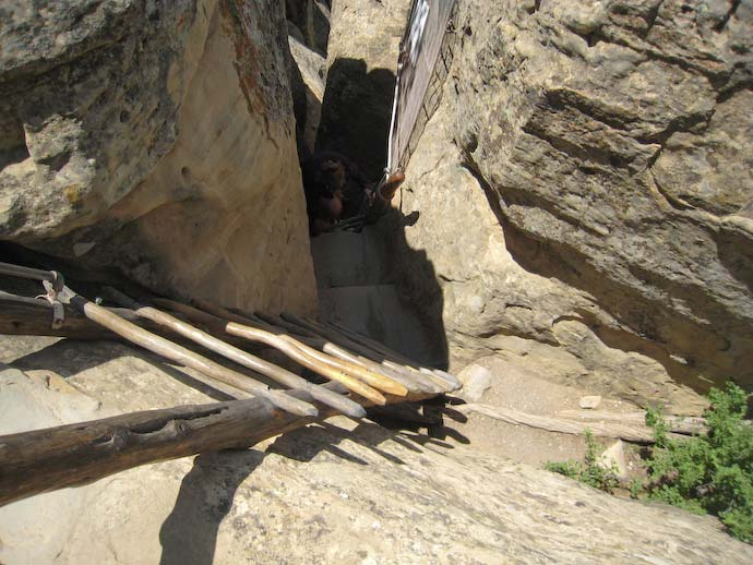 Cliff Palace exist steps and ladder
