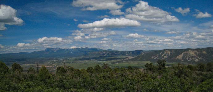 A view of mountains from Mesa Verde