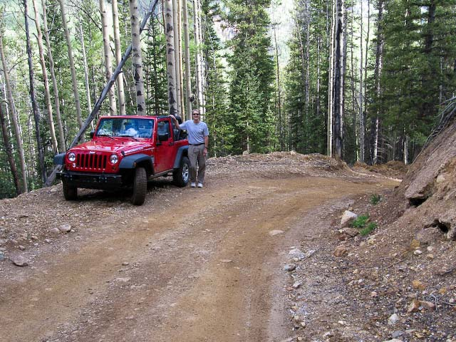 Jeep on smooth road