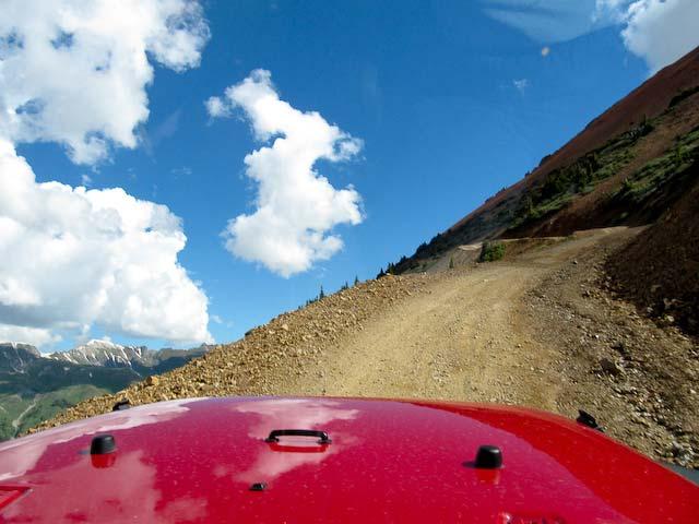 steep uphill grade