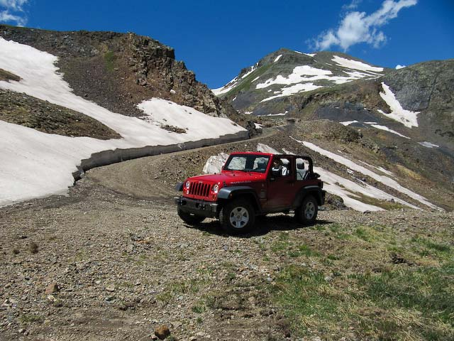 Jeep and trail view